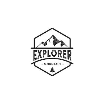 Badge mountain inspiration de conception de logo vintage
