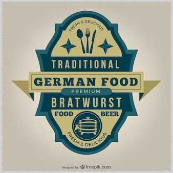 Badge nourriture allemande