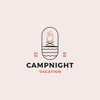 Badge de nuit de camp