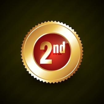 Badge numéro deux doré