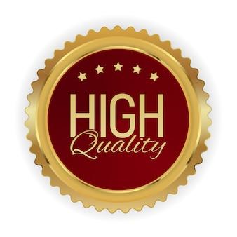 Badge d'or de haute qualité