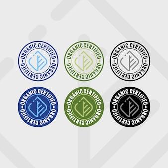 Badge organique moderne