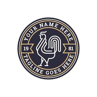 Badge de poulet avec monogramme