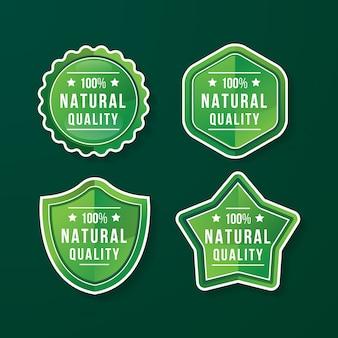 Badge de qualité naturelle