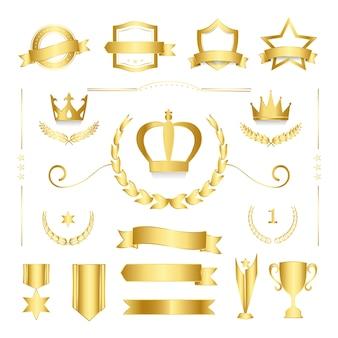 Badge de qualité premium et vecteurs de collection de bannière