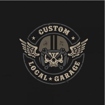 Badge rétro personnalisé de garage