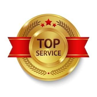 Badge de service supérieur