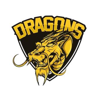 Badge avec tête de dragon