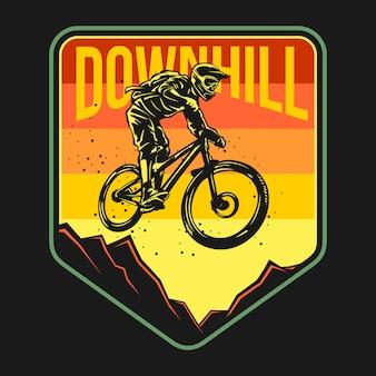 Badge de vélo de montagne