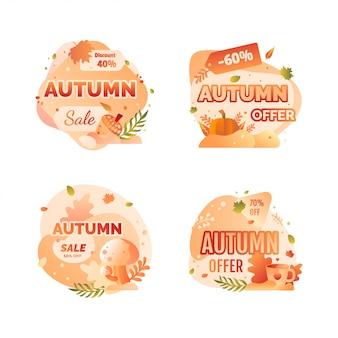 Badge de vente d'automne