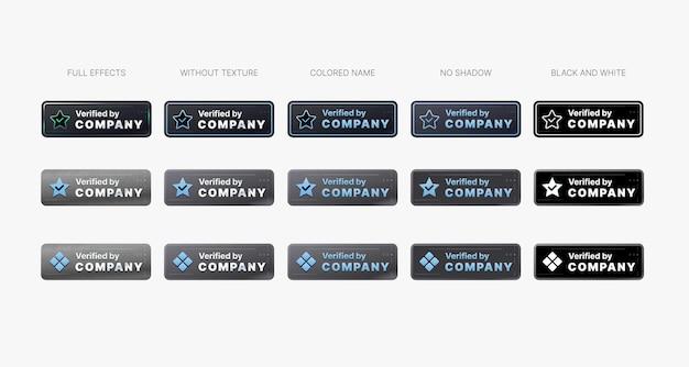 Badge vérifié approuvé par la certification pour l'entreprise garantie par la technologie de sécurité web