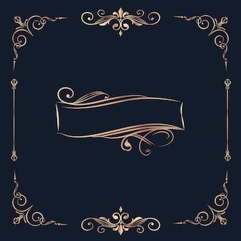 Badge vierge vintage tourbillon