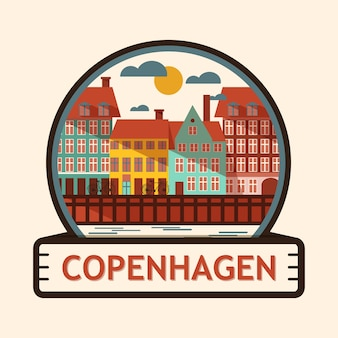 Badge de la ville de copenhague