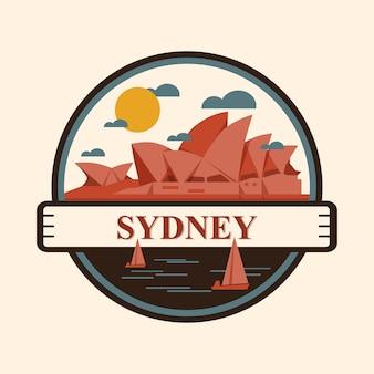 Badge de la ville de sydney, australie