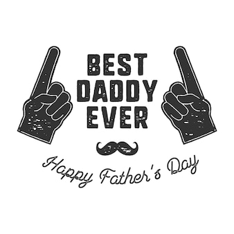 Badge vintage de la fête des pères