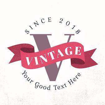 Badge vintage avec un vecteur de bannière