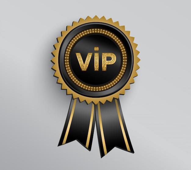 Badge vip avec rubans