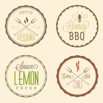 Badges alimentaires circulaires