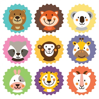 Badges animaux mignons