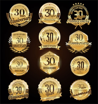 Badges d'anniversaire