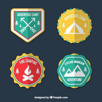 Badges d'aventure colorés