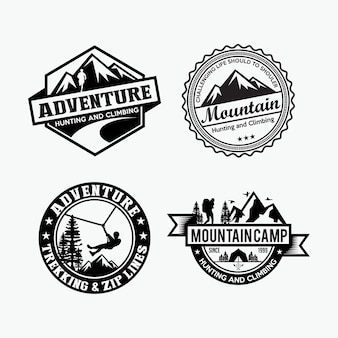 Badges d'aventure et logo