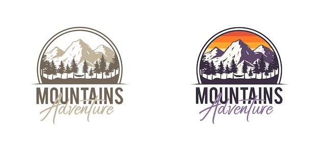 Badges d'aventure en montagne