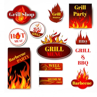 Badges barbecue