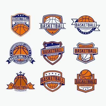 Badges de basket-ball logo et autocollants