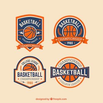 Badges de basket emballent