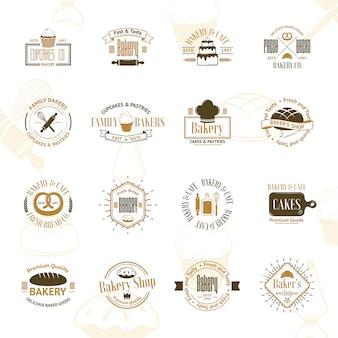 Badges de boulangerie vintage