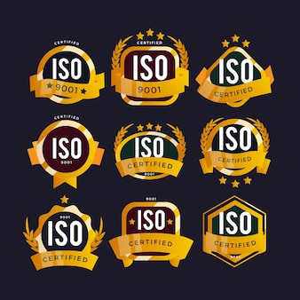 Badges de certification iso