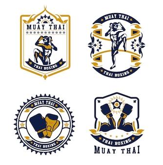 Badges de club de kickboxing