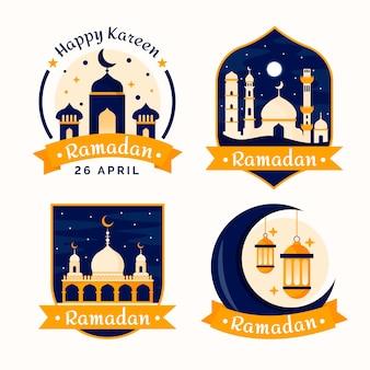 Badges avec concept ramadan