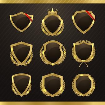 Badges décoratifs dorés