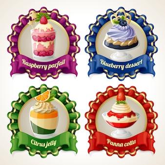 Badges de dessert