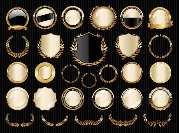 Badges dorés premium premium