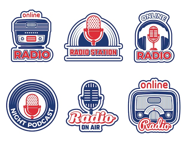 Badges d'émissions de radio
