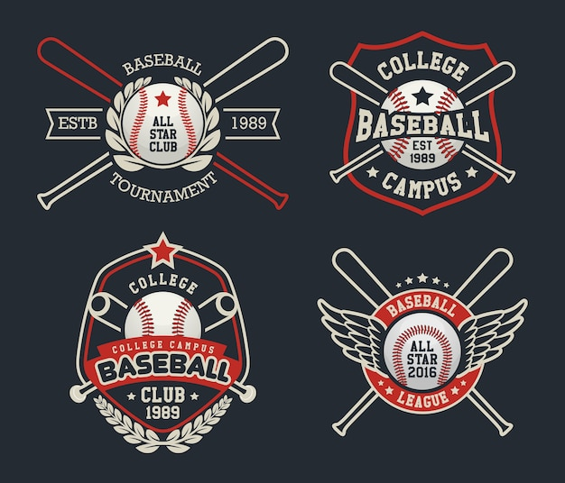 Badges et étiquettes de baseball