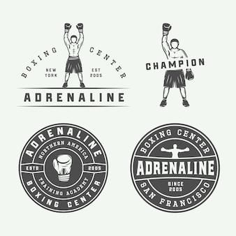 Badges et étiquettes de boxe