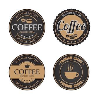 Badges et étiquettes de café