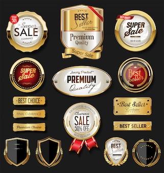 Badges et étiquettes en or premium de luxe