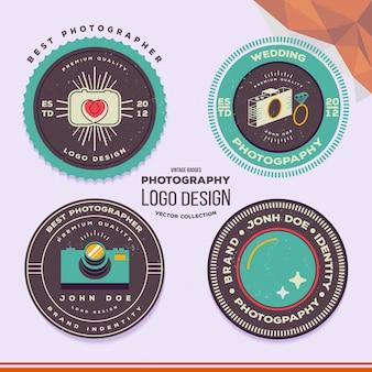 Badges et étiquettes de photographie de mariage