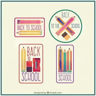 Badges étonnants peints à la main pour retourner à l'école