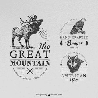 Badges fabriqués à la main avec des animaux