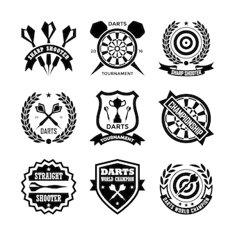 Badges de fléchettes