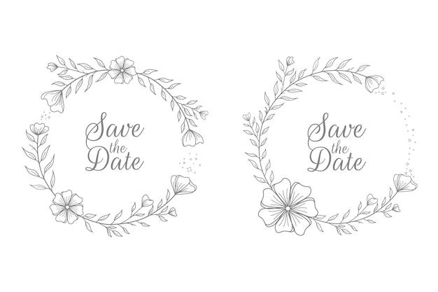 Badges floraux de mariage