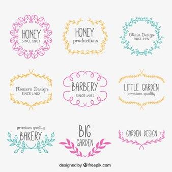 Badges floraux Sketchy