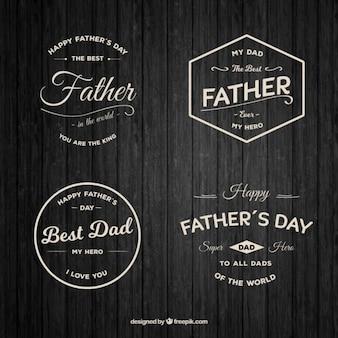 Les badges de jour de belle père dans le style vintage
