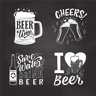 Badges de la journée internationale de la bière